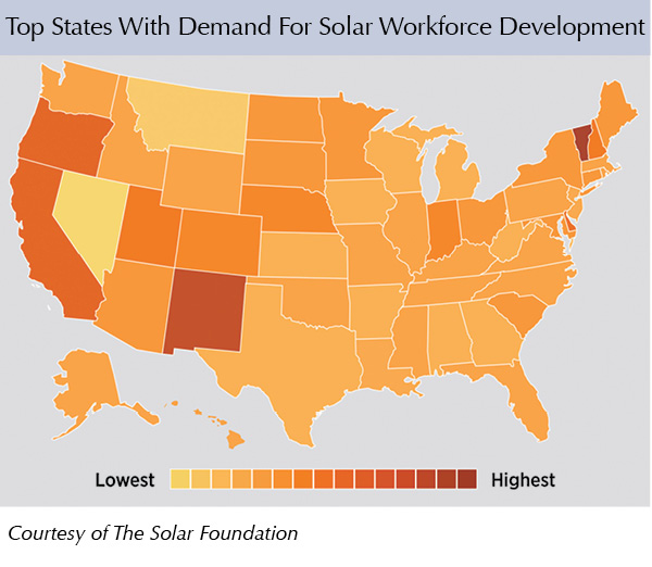 Top States With Demand For Solar Workforce Development